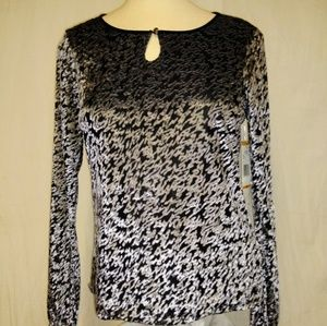 NWT Jones New York PS Multi Scoop Neck Top